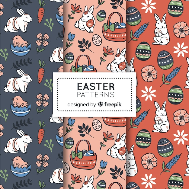 Easter day pattern Free Vector