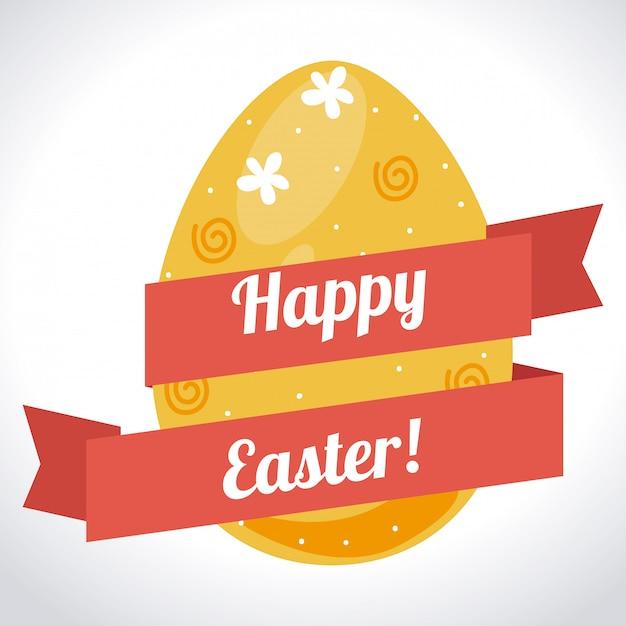 Easter design illustration Free Vector