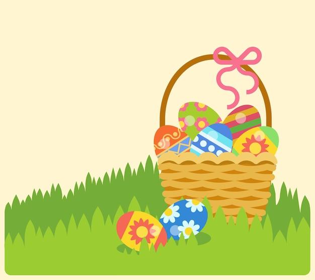 Пасха пасхальное яйцо пасхальный кролик коллекция пасхальных икон Бесплатные векторы