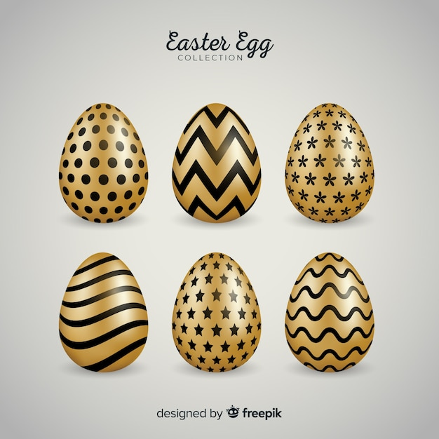 Easter egg collection Free Vector