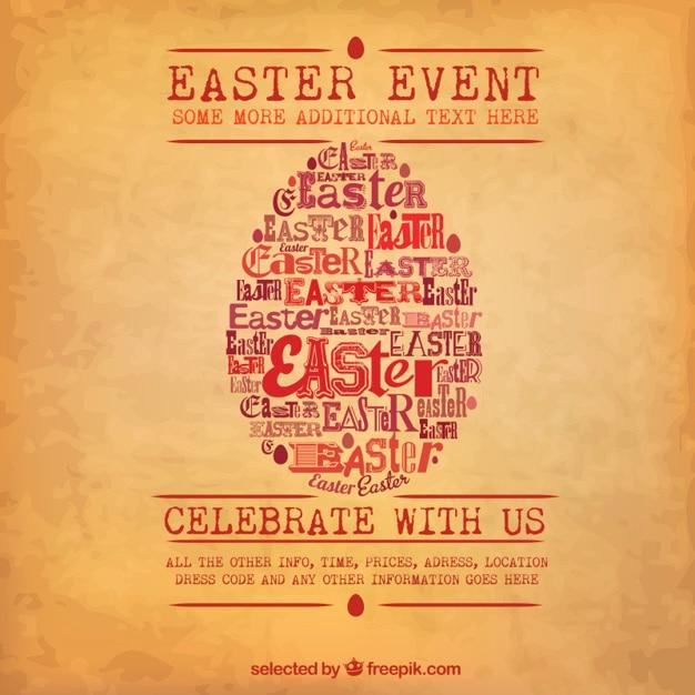Easter egg poster Free Vector