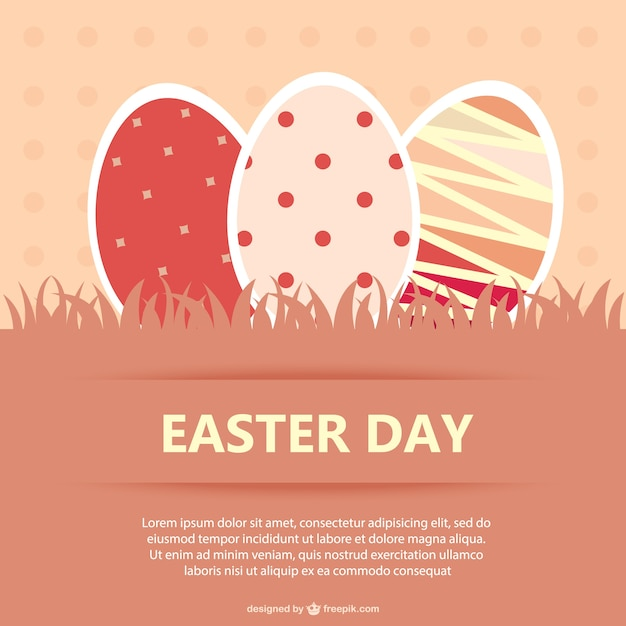 Easter Eggs Postcard Vector | Free Download