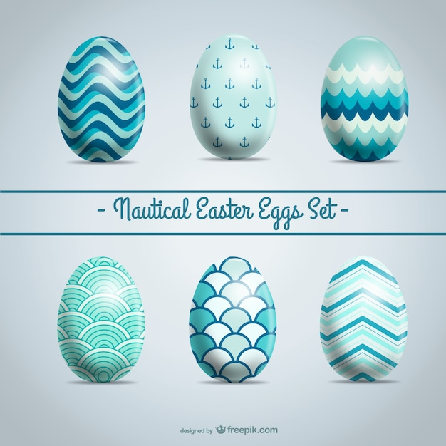 Easter Eggs Set Abstract Design Free Vector