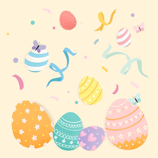 Easter eggs Free Vector