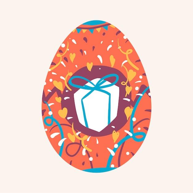 Il festival di pasqua ha dipinto il vettore dell'uovo Vettore gratuito