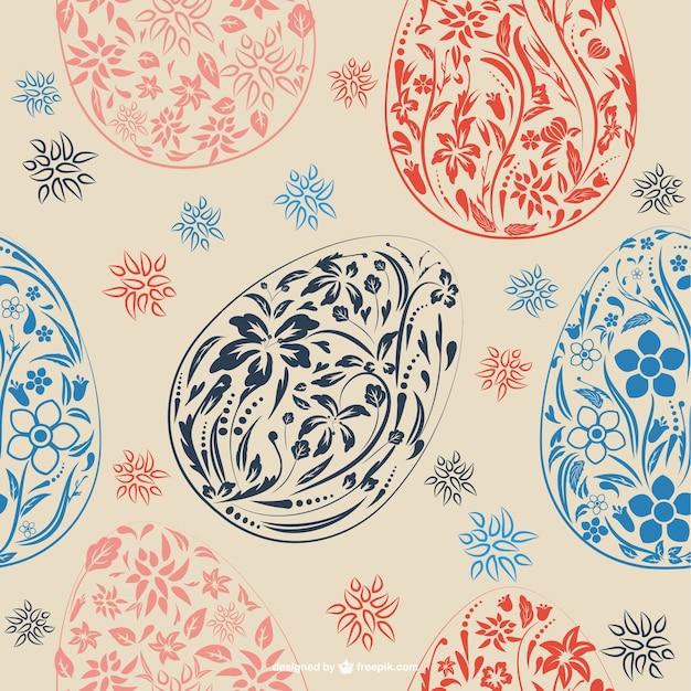 Easter floral card design