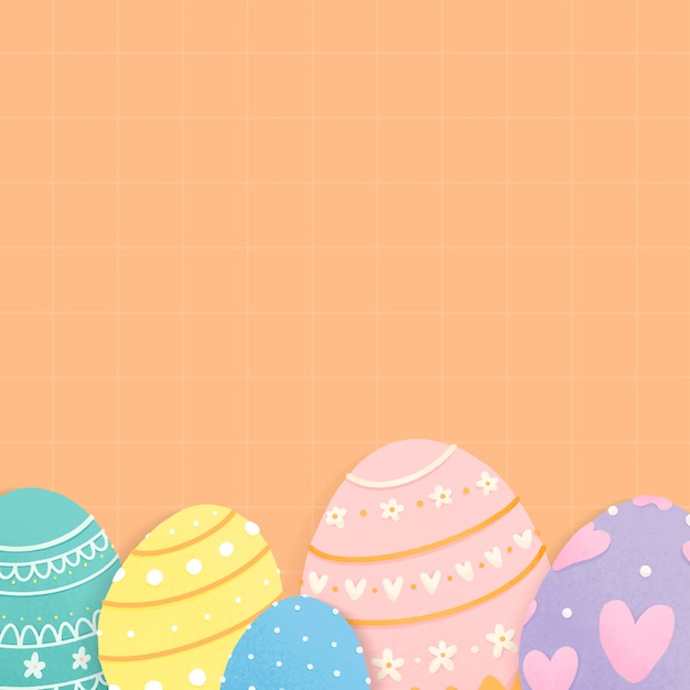Easter holiday themed design space Free Vector