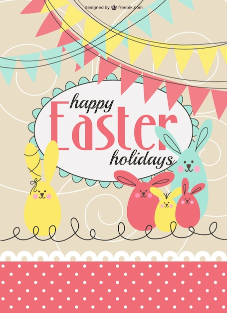 Easter Party Invitation Template Vector  Free Download