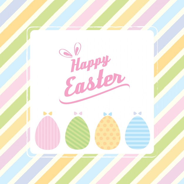 Easter pastel background Premium Vector