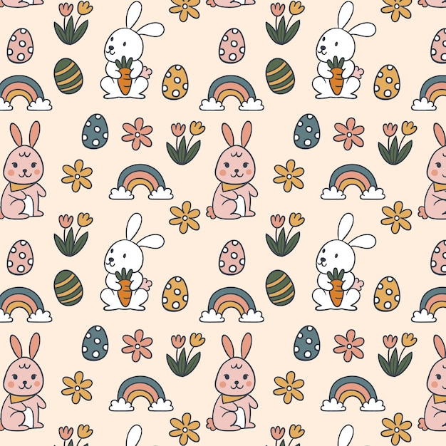 Easter pattern background Free Vector