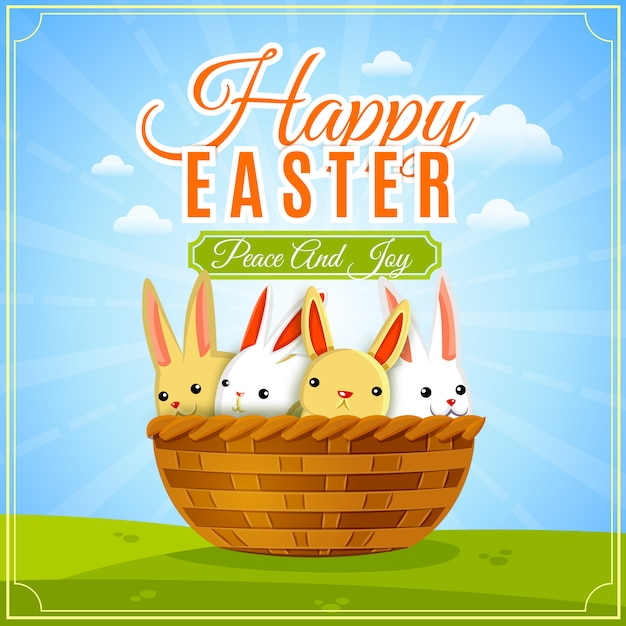 Easter poster illustration Free Vector