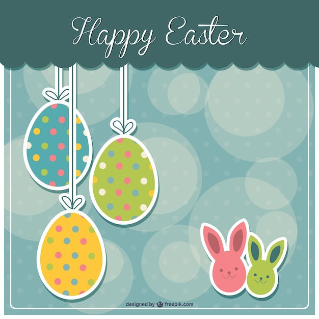 Easter printable card Free Vector