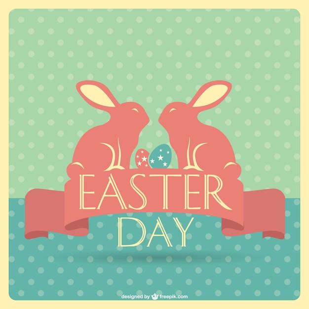 Easter retro card design Vector – Easter Card Designs