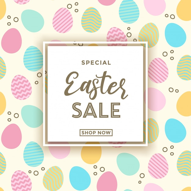 Easter sale banner background template Premium Vector