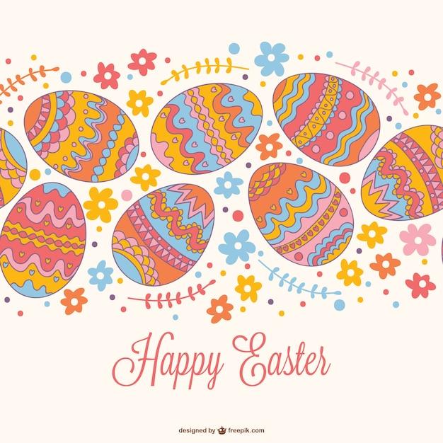 Easter seamless card design Vector – Easter Card Designs