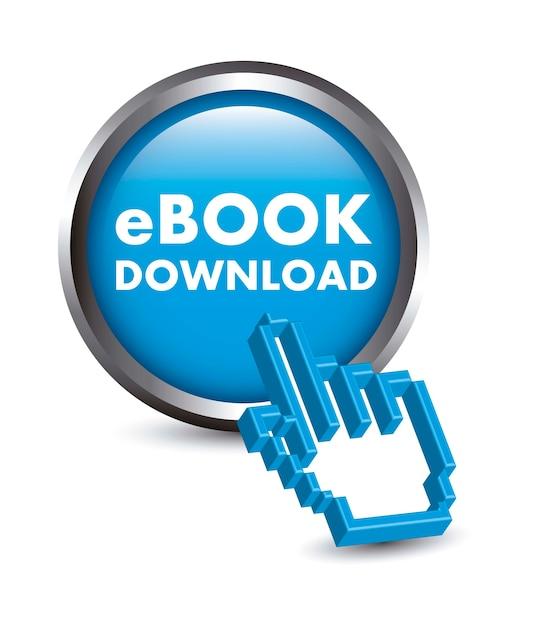 Кнопка ebook с курсором Premium векторы