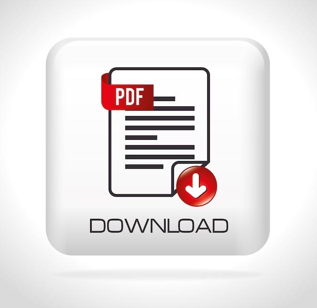 Ebook digital design. Premium Vector