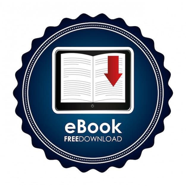 Электронная книга графическая иллюстрация Бесплатные векторы