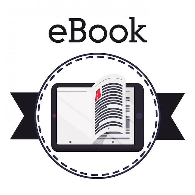 Premium Vector   Ebook icon design