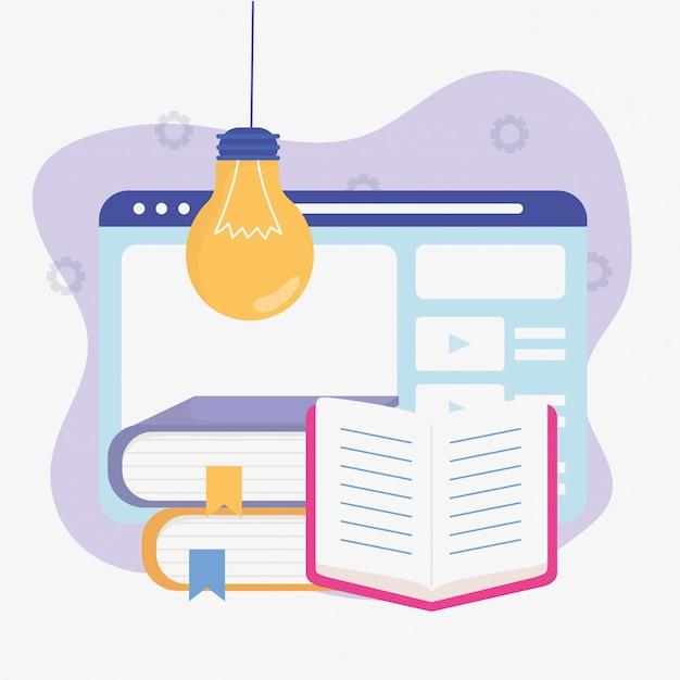 Ebook web idea school education online Premium Vector