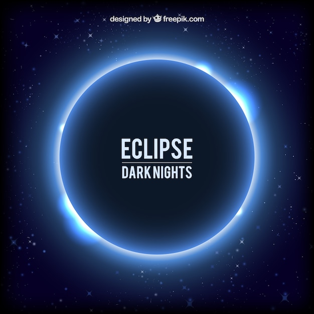 Eclipse background Free Vector
