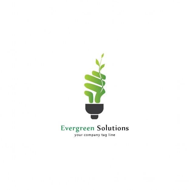 eco bulb logo vector free download