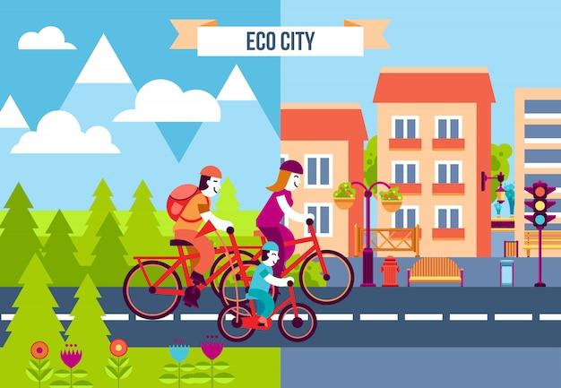 Eco city decorative icons Free Vector