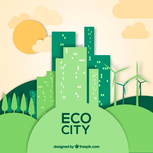 Eco City Vector Free Download