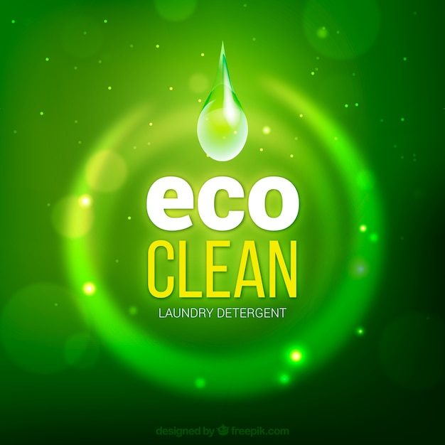 Eco clean background Free Vector