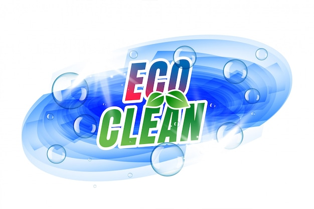Eco clean template with bubbles Free Vector
