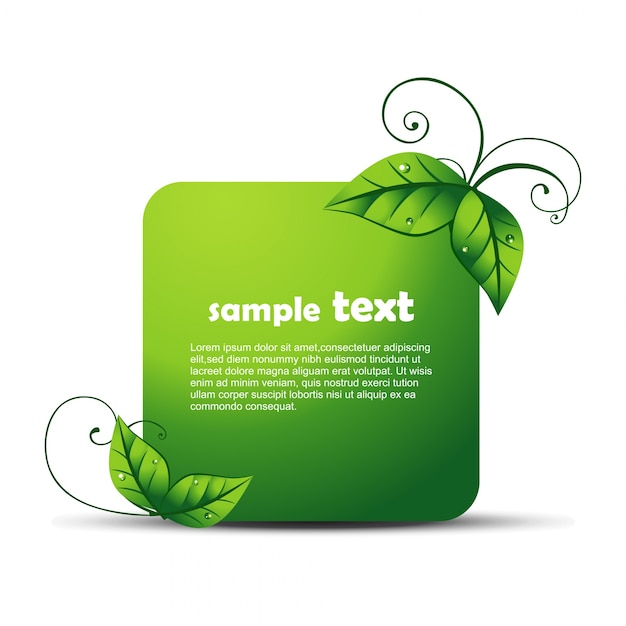 Eco design with space for text Free Vector