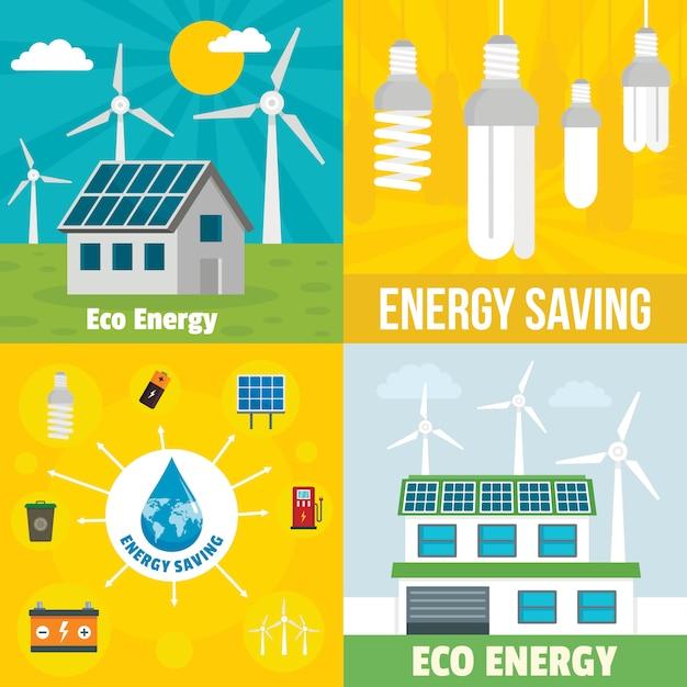 Eco energy background Premium Vector