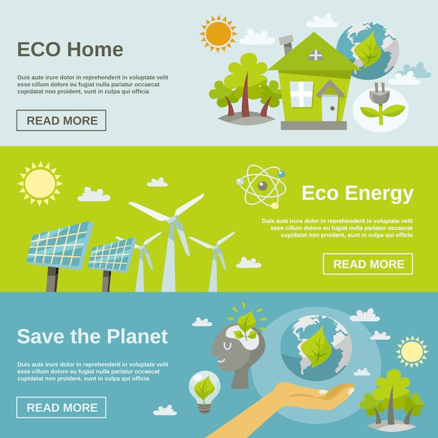 Eco energy banner Free Vector