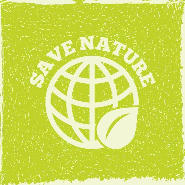 Eco energy save nature illustration Premium Vector