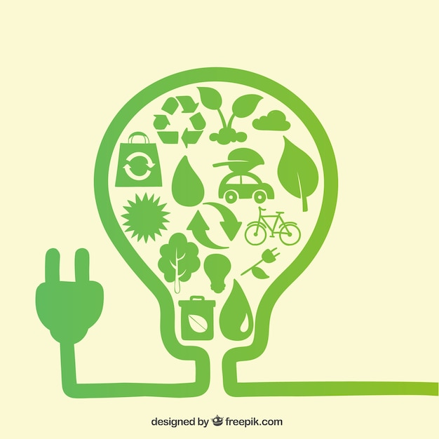 Eco energy Free Vector