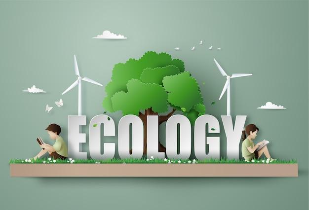 Eco and environment concept Premium Vector