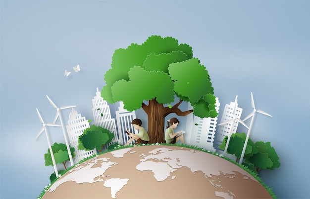 Eco and environment concept Premium Vector