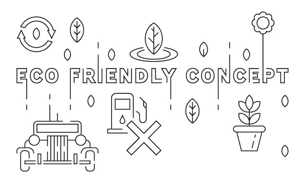 Eco friendly concept illustration Premium Vector