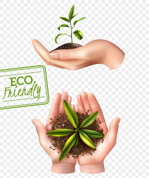 Eco friendly ecology concept Free Vector