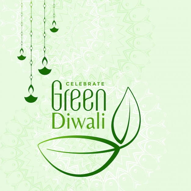 Eco friendly green diwali concept illustration Free Vector