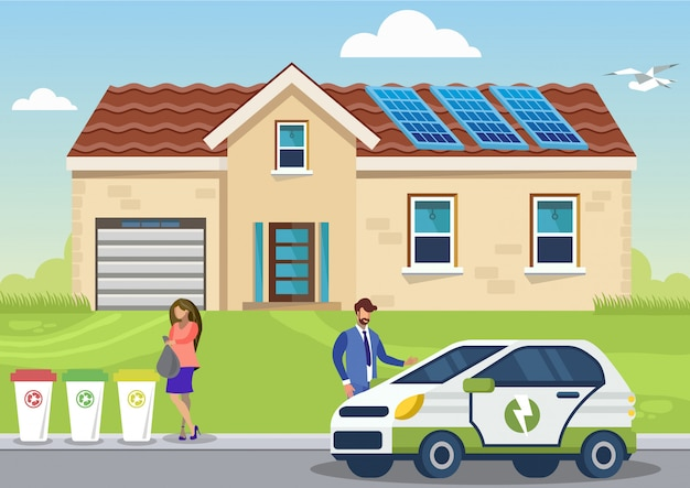 Eco-friendly lifestyle flat vector illustration Premium Vector