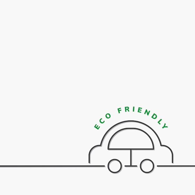Eco friendly transportation Free Vector