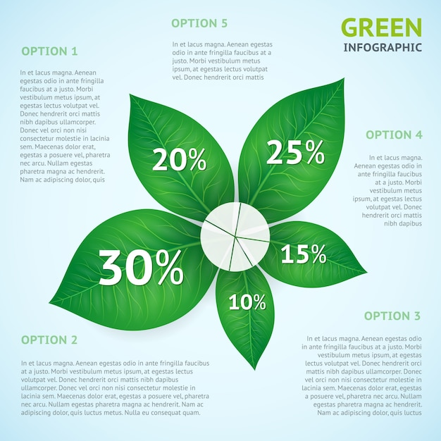 Eco green infographics concept Free Vector