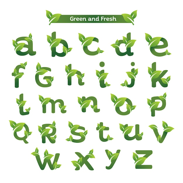 Eco green letter pack logo template Premium Vector