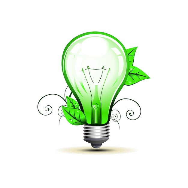 Eco Light Bulb Design Vector Free Download