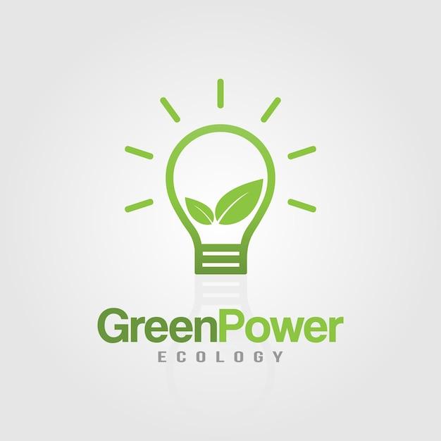eco light bulb green power idea vector premium download
