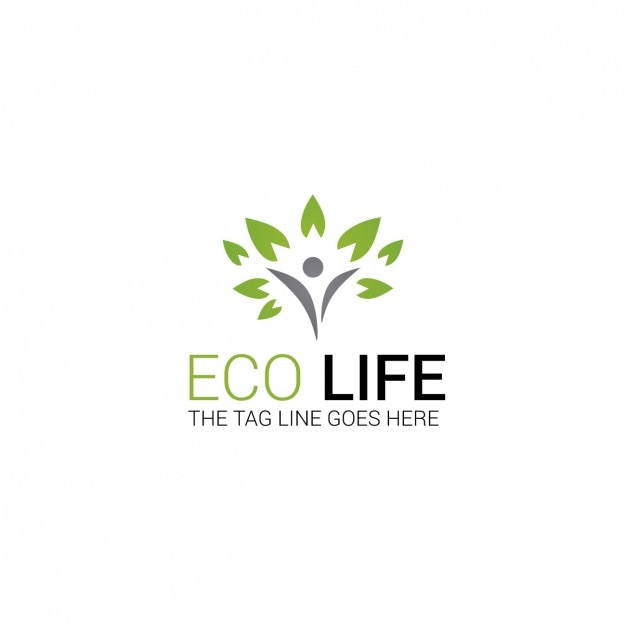 Eco Logo Template Vector Free Download