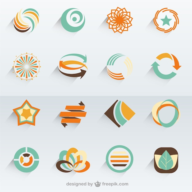 Eco logo templates Premium Vector