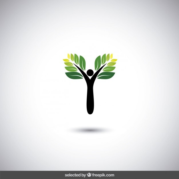 Eco Logo With Abstract Tree Vector