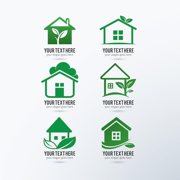 Eco logos collection Free Vector